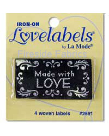 4 LABELS - MADE WITH LOVE - BLACK